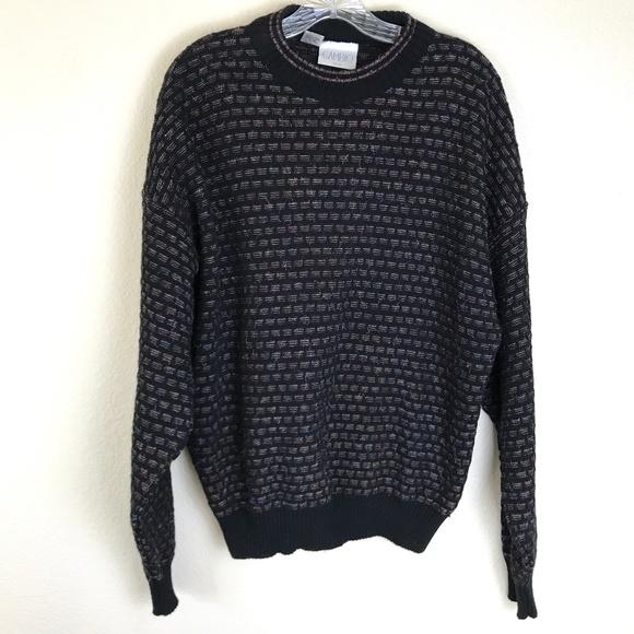 Vintage Sweaters - VINTAGE Oversized Grandpa Rainbow Sweater XL